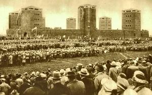 Uroczyste otwarcie pomnika Tannenberg Denkmal