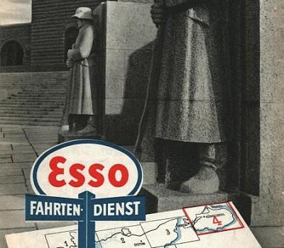Okładka mapy samochodowej ESSO